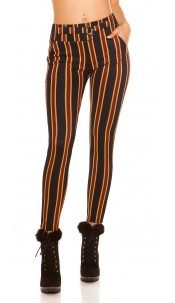 Trendy treggings striped in business look Navy