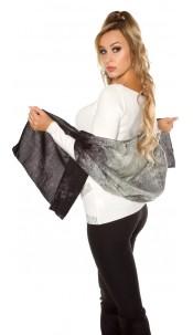 Trendy xl sjaal zwart