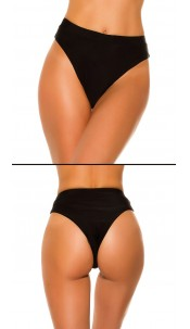 Mix it!!! sexy bikini slip hoge taille zwart