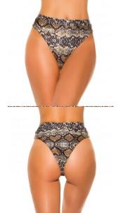 Mix it!!! sexy bikini slip hoge taille slangen-print