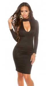 sheath dress with sexy Dekoltee Black
