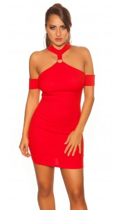 Sexy neckholder partydress Red