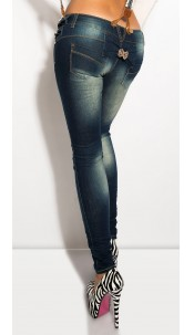 Sexy KouCla Jeans with removeable strapes Jeansblue