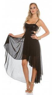 Sexy KouCla partydress with sequins and cutouts Black