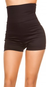 Sexy KouCla High Waist Shorts 70 s Look Black