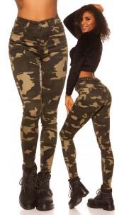 Sexy High Waist Skinny Jeans Camouflage Army