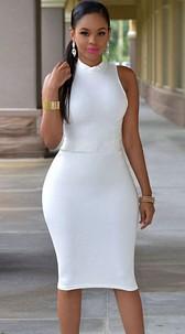 Dress with cutout White
