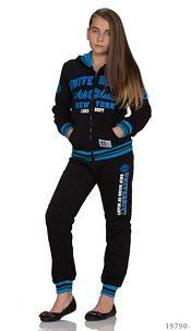 Joggingsuit Black / Blue