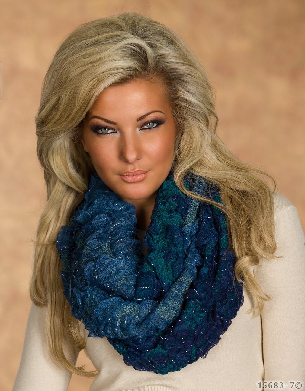 Sjaal Mixed blauw