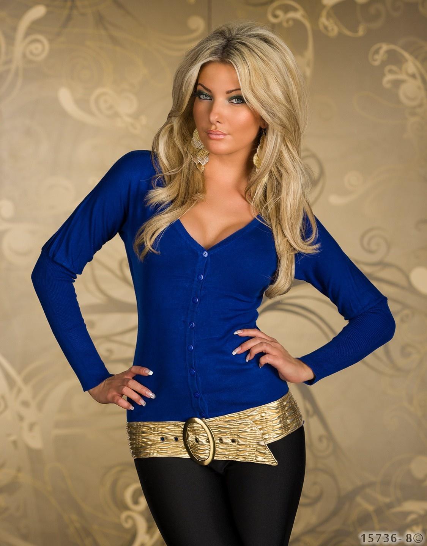 Cardigan Blauw