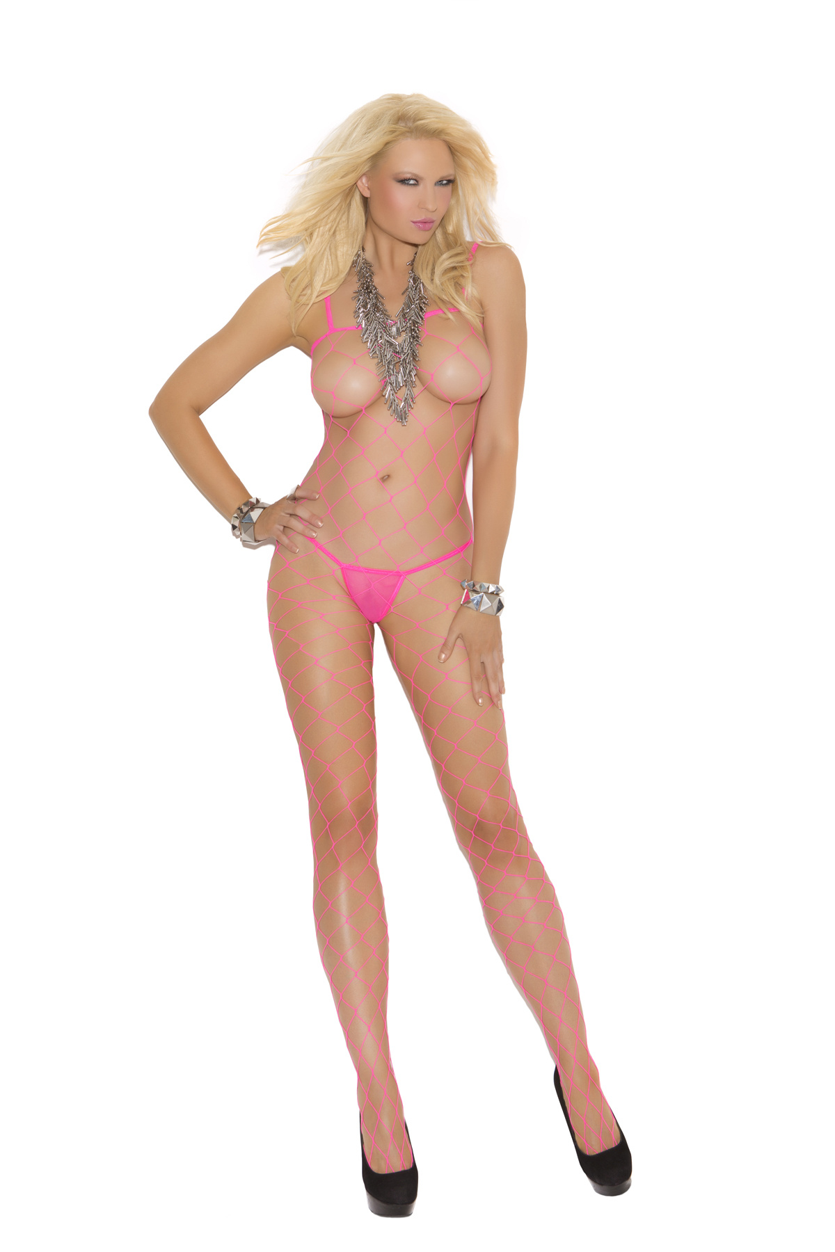 Bodystocking Neon roze
