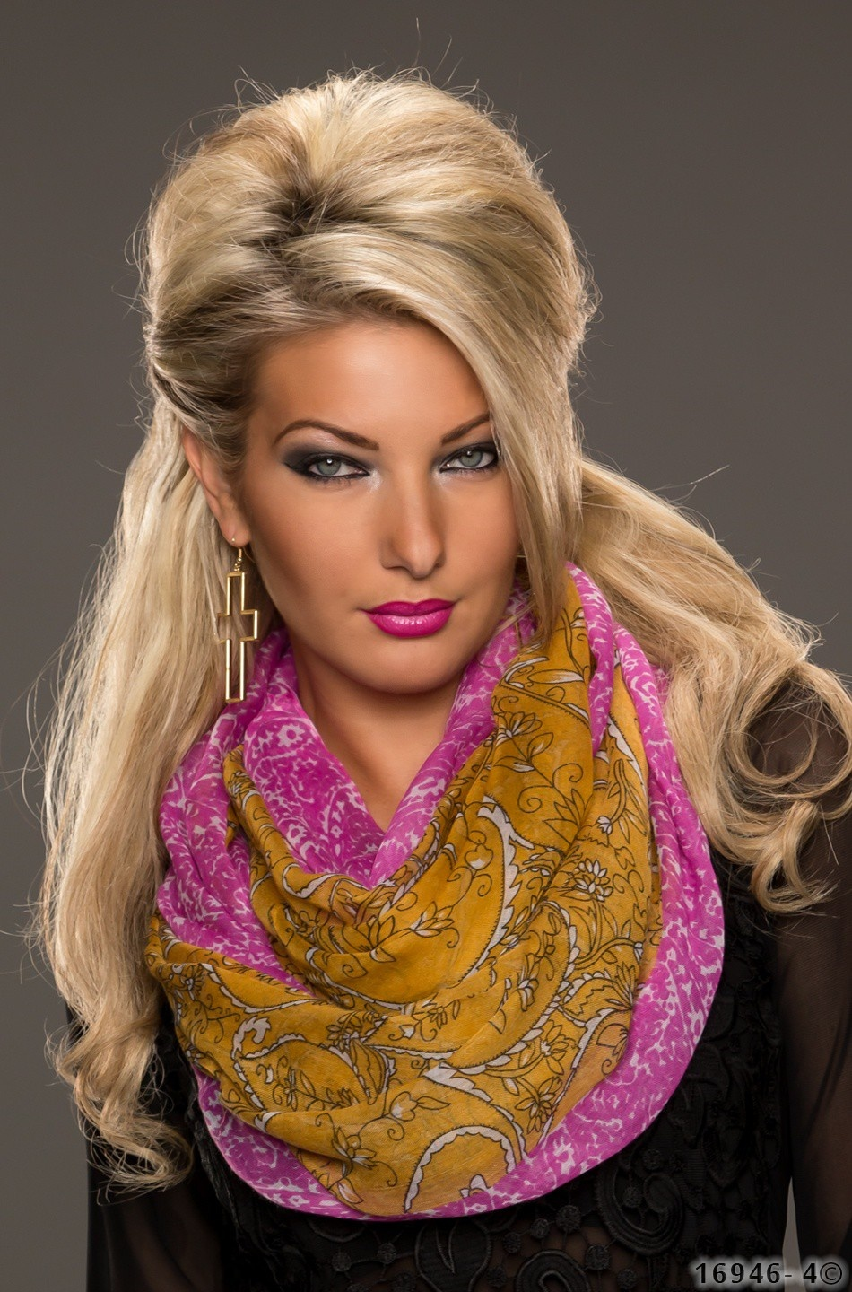 Scarf Mixed mustard