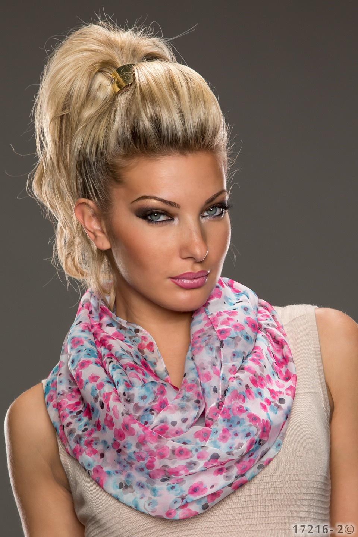 Sjaal Roze - Blauw