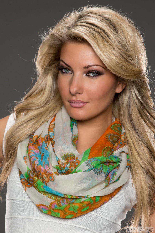 Sjaal Mixed oranje