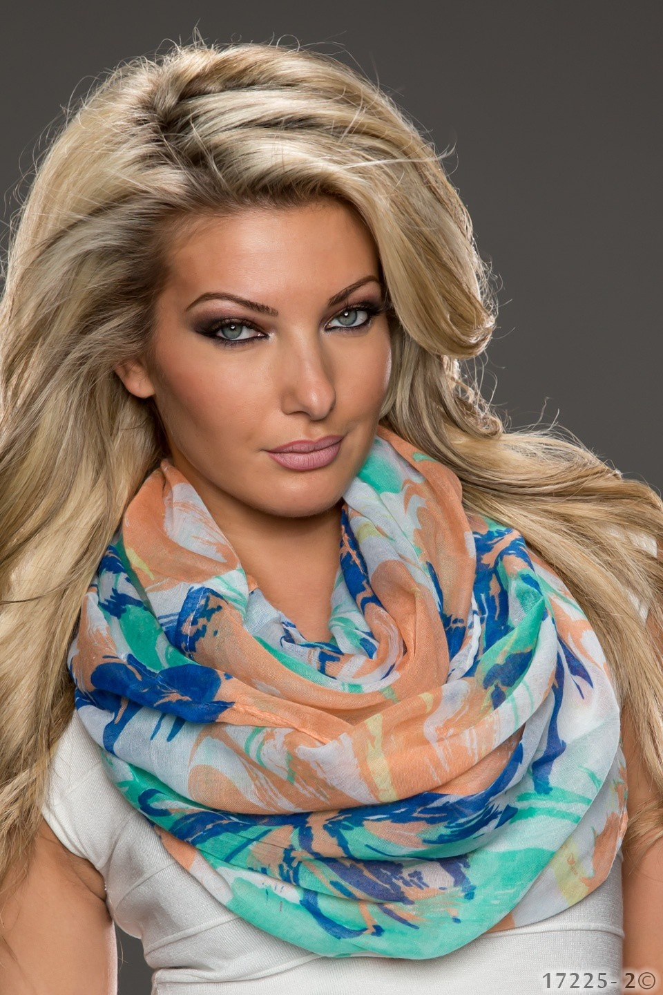 Scarf Green - Darkblue