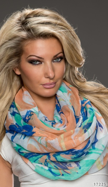 Scarf Green / Darkblue