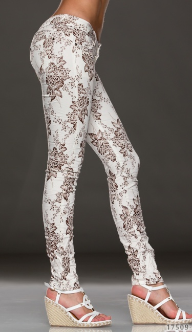 Pants White / Brown