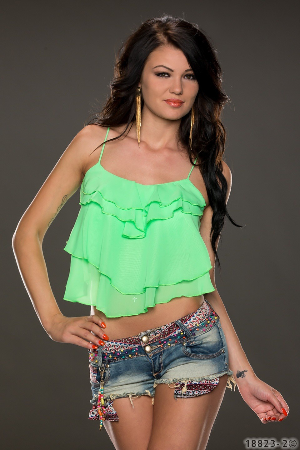 Crop-Top Neongroen