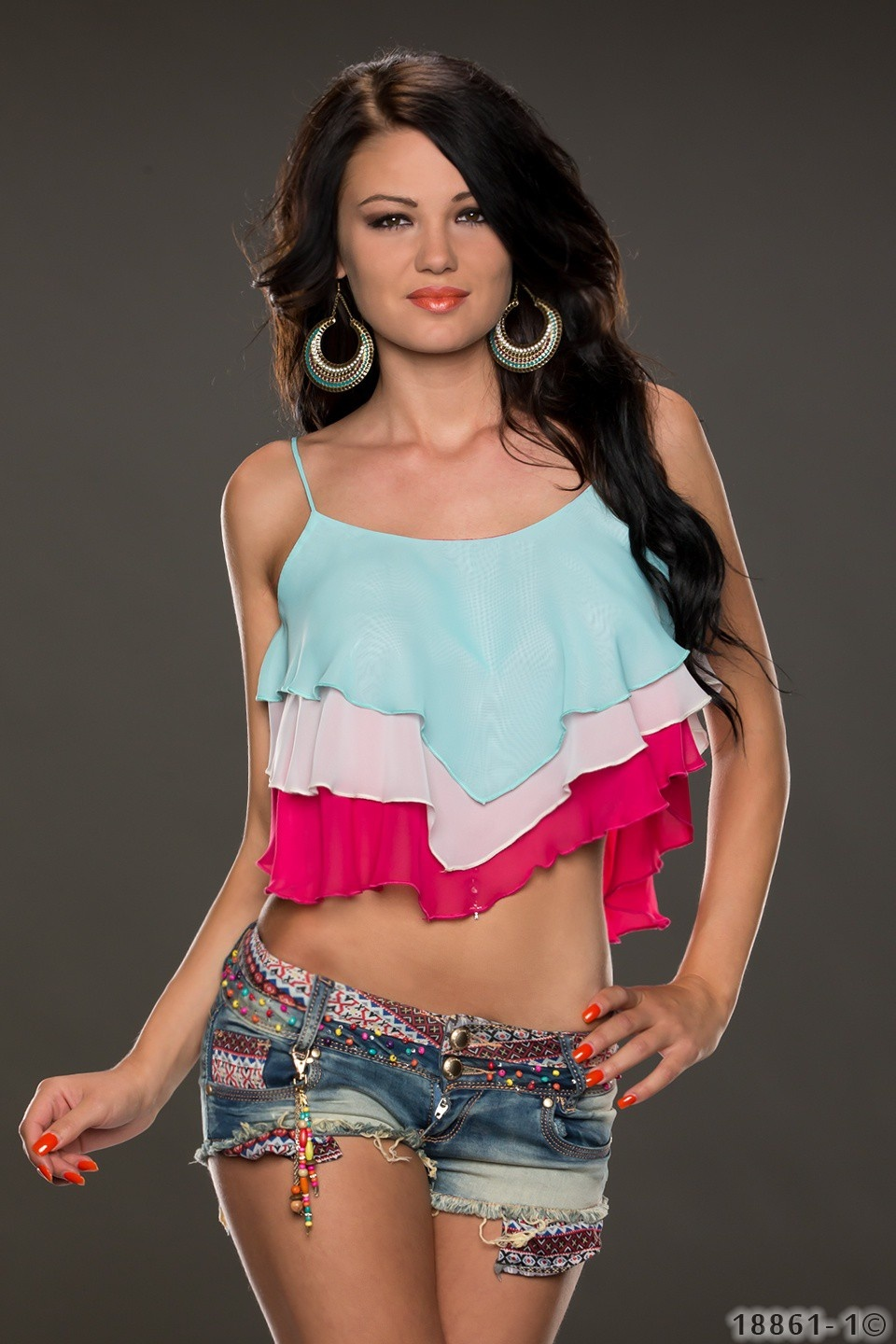 Crop Top Mixed - Roze