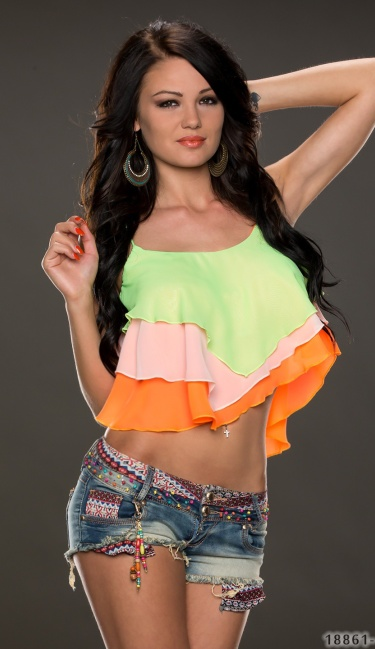 Crop Top Mixed / Oranje