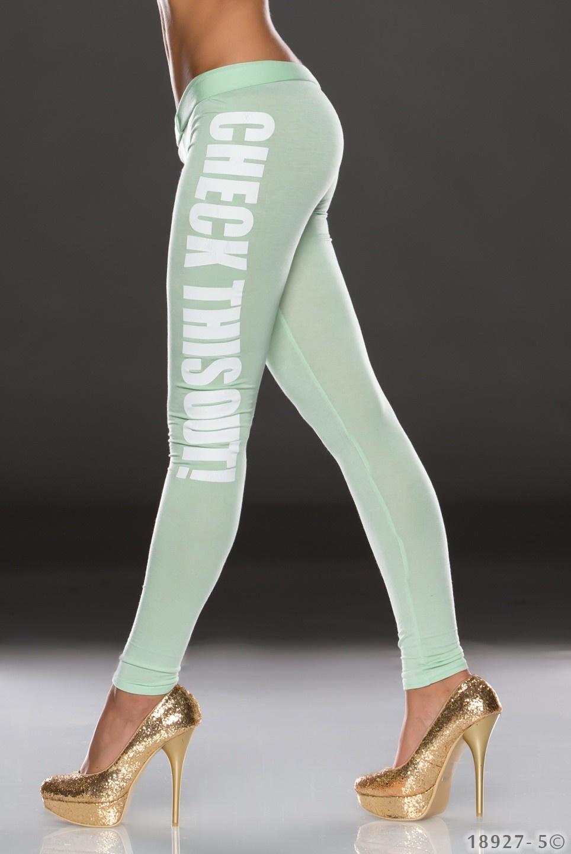 Legging Groen - Wit
