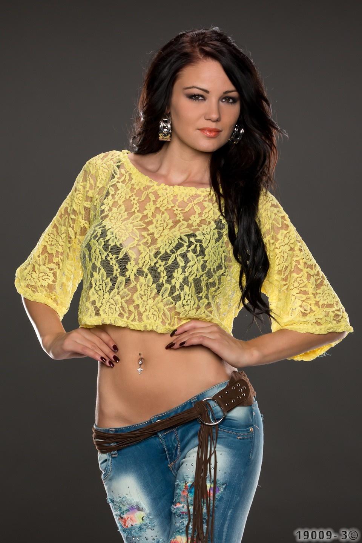 Crop Shirt Geel