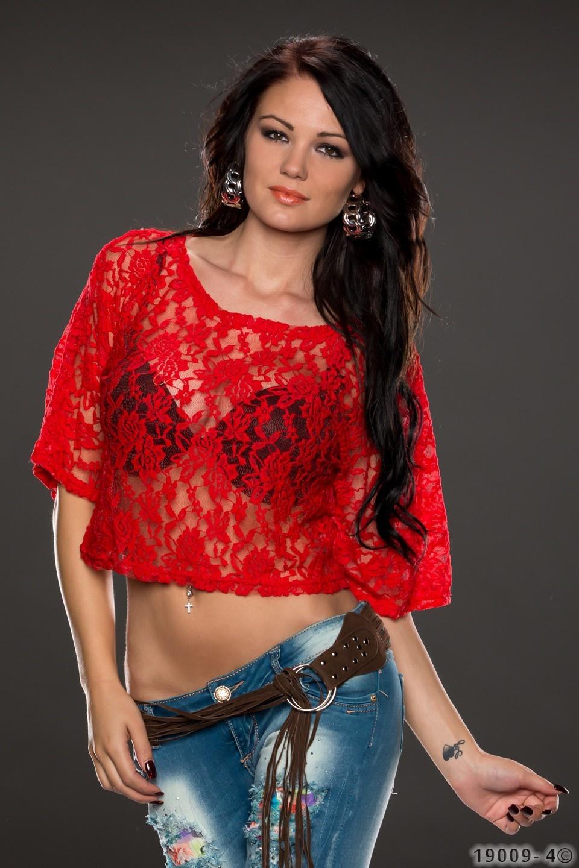 Crop Shirt Rood