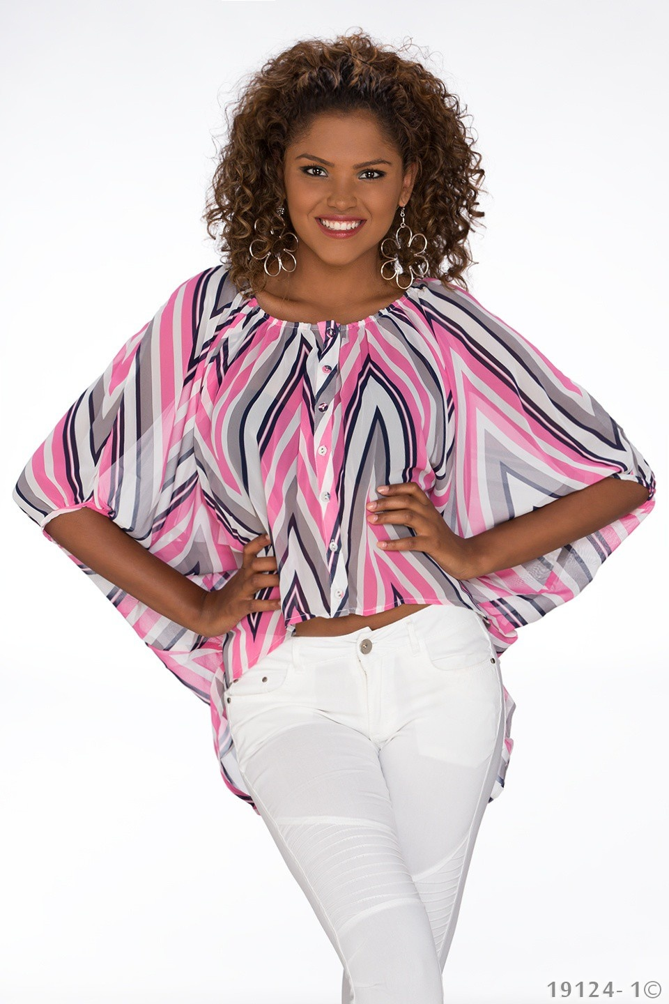 Mullet-Blouse Mixed - Roze