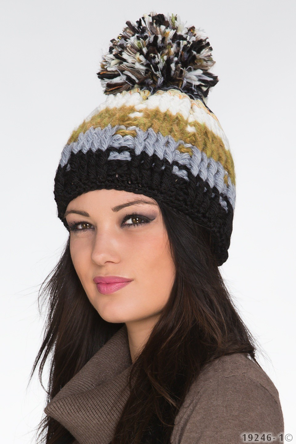 Knitted Hat Mixed - Black