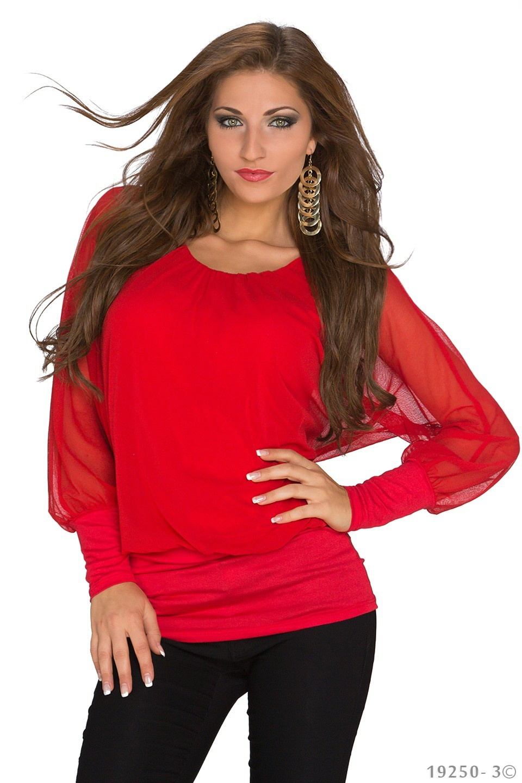Shirt met lange mouwen Rood