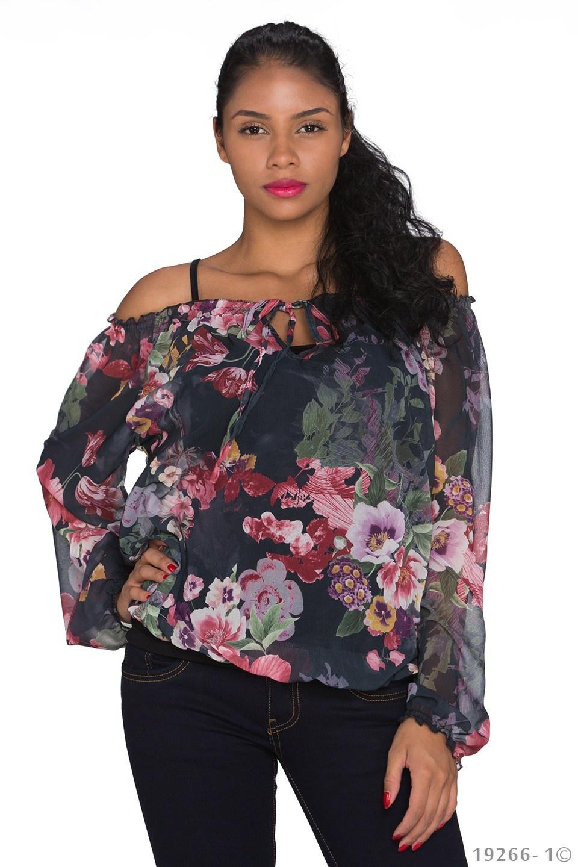 Shirt Mixed - Zwart