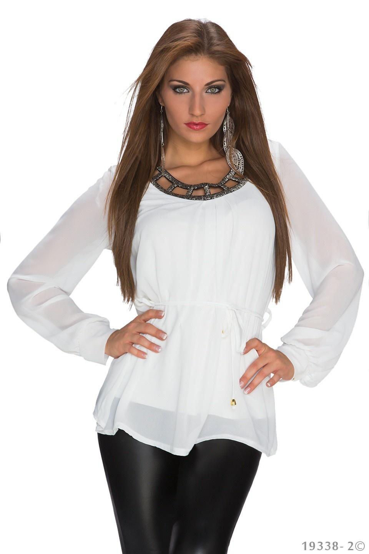 Shirt met lange mouwen Wit