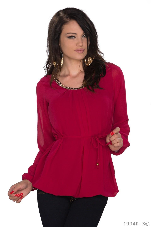 Shirt met lange mouwen Wijn-rood