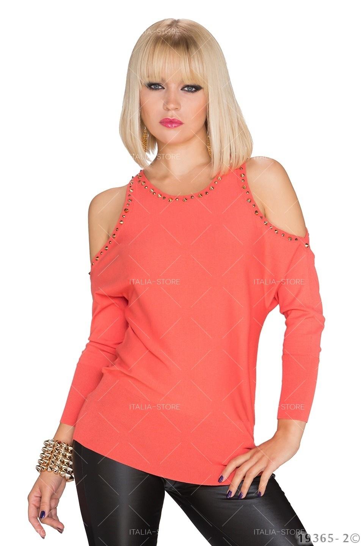 Shirt met lange mouwen Oranje