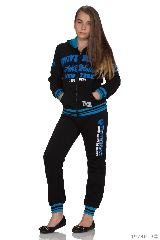 Joggingpak Zwart - Blauw