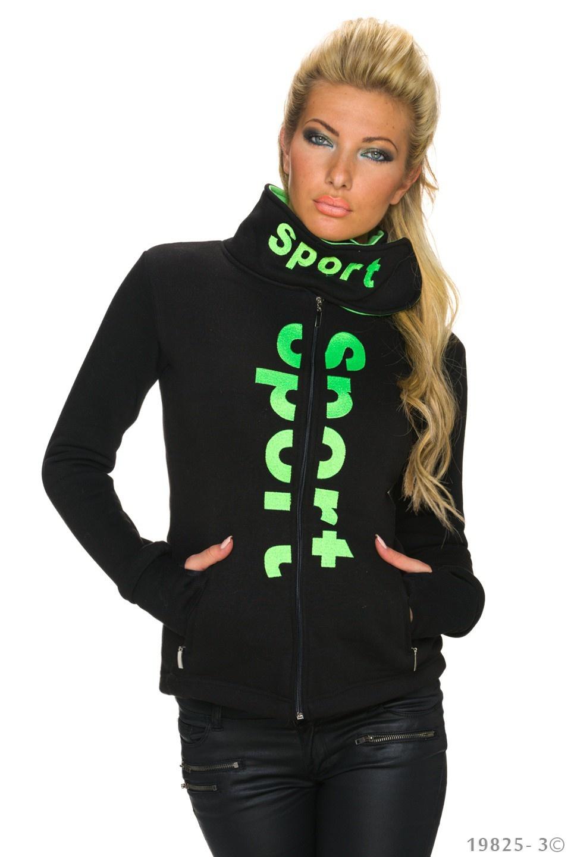 Sweat-Jack Zwart - Green