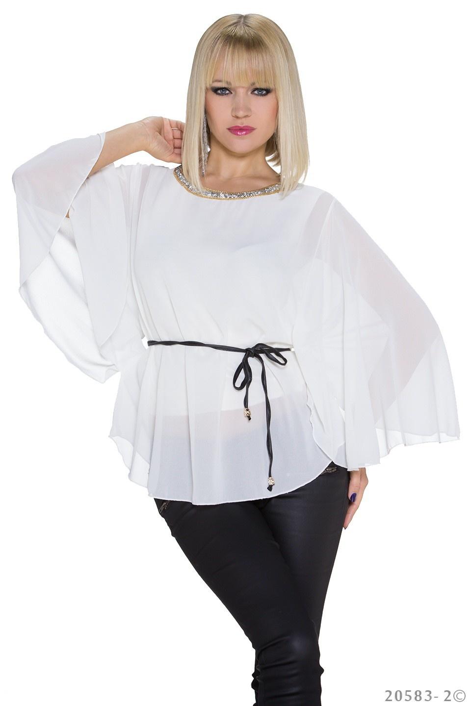 Kimono-Shirt Wit