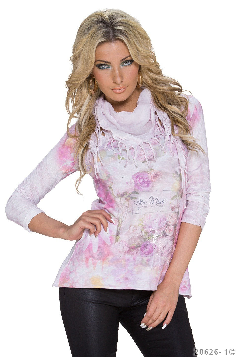 Long-Shirt Mixed - Rose