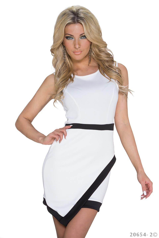 Minidress White - Black