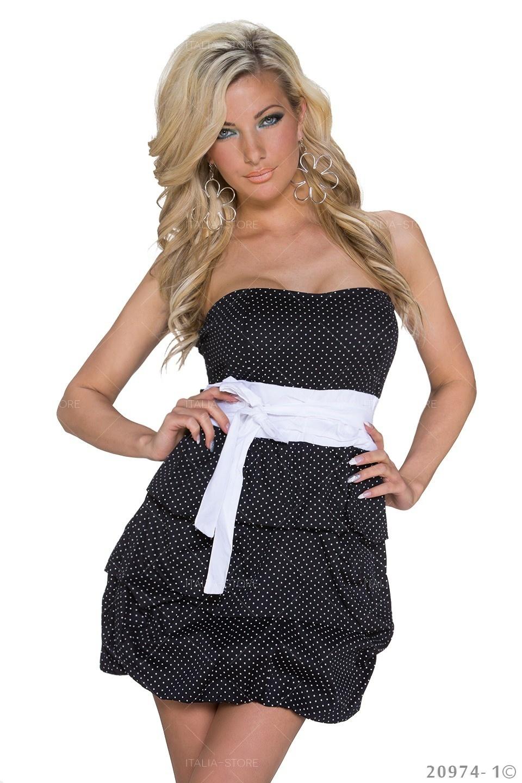 Mini Jurkje Zwart - Wit