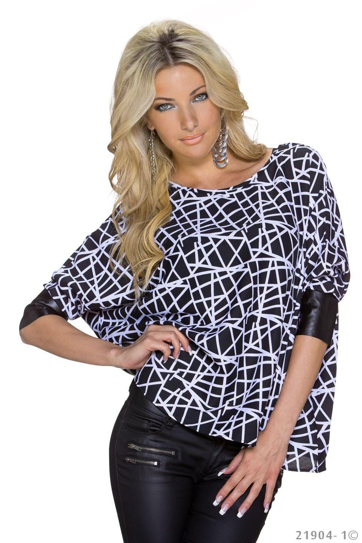 Shirt Zwart - Wit