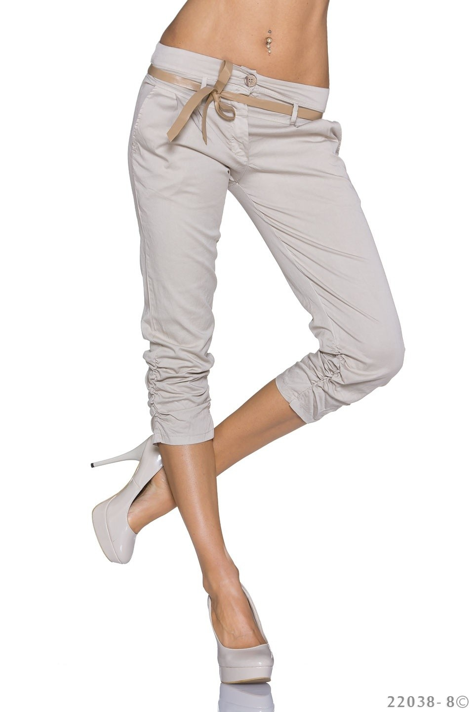Capri-Broek Oxford-tan