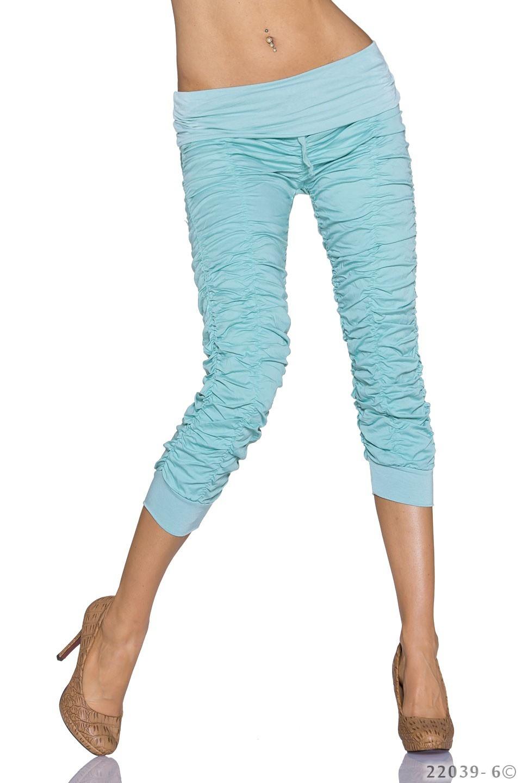 Capri-Pants Turquoise-green