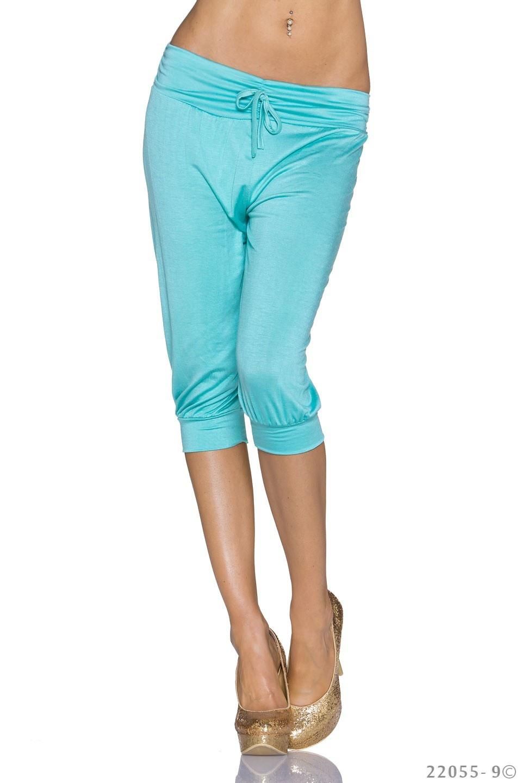 Capri-Broek Turquoise-groen