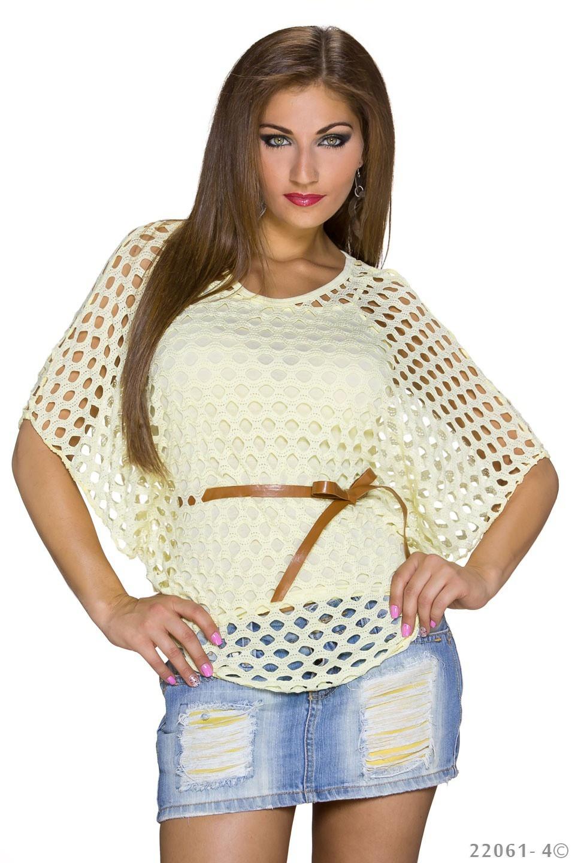 Top + Shirt Geel