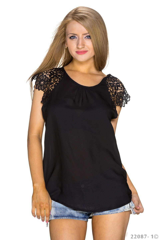 Shirt met korte mouwen Zwart