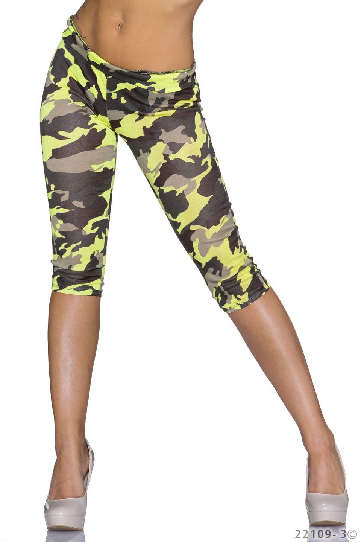 Leggings Camouflage - Geel