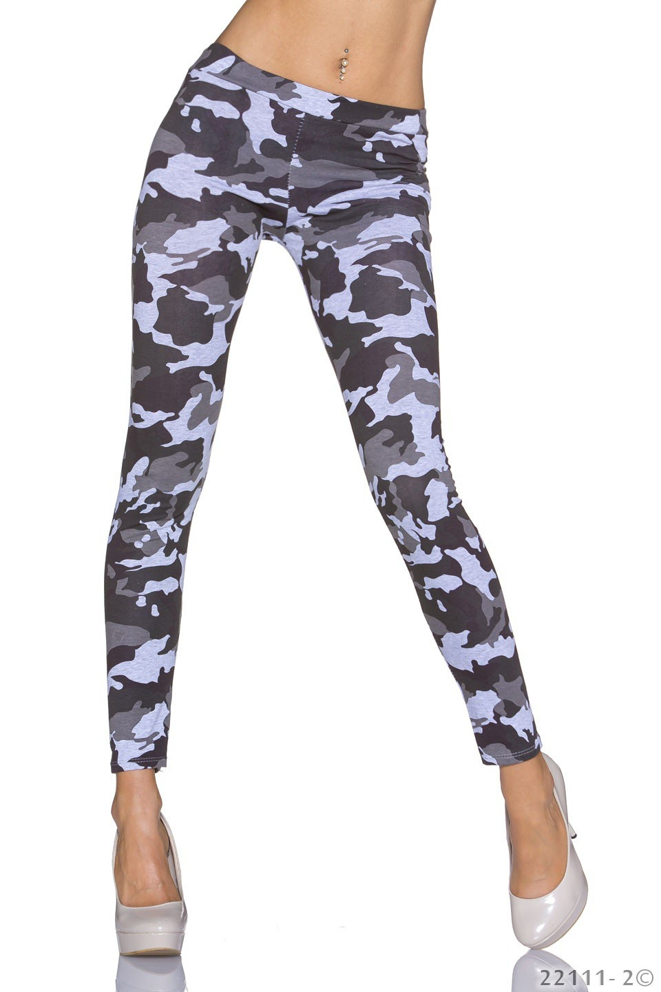 Leggings Camouflage - Grijs