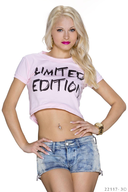 Crop-Shirt Roze