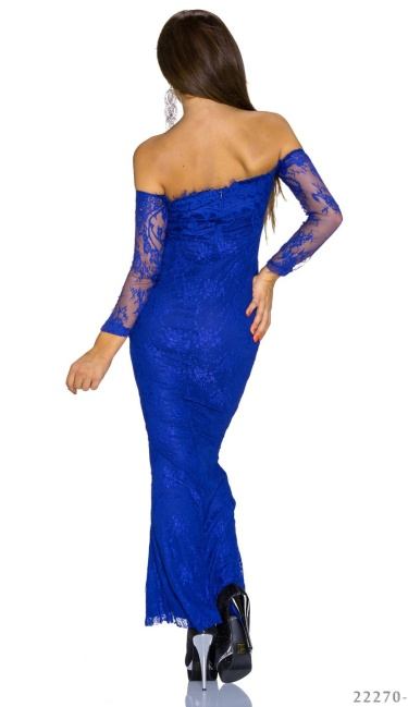 Strapless Maxi Dress Royalblue